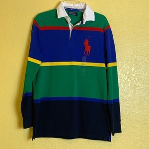 Polo Men's Long Sleeve Rugby Shirt